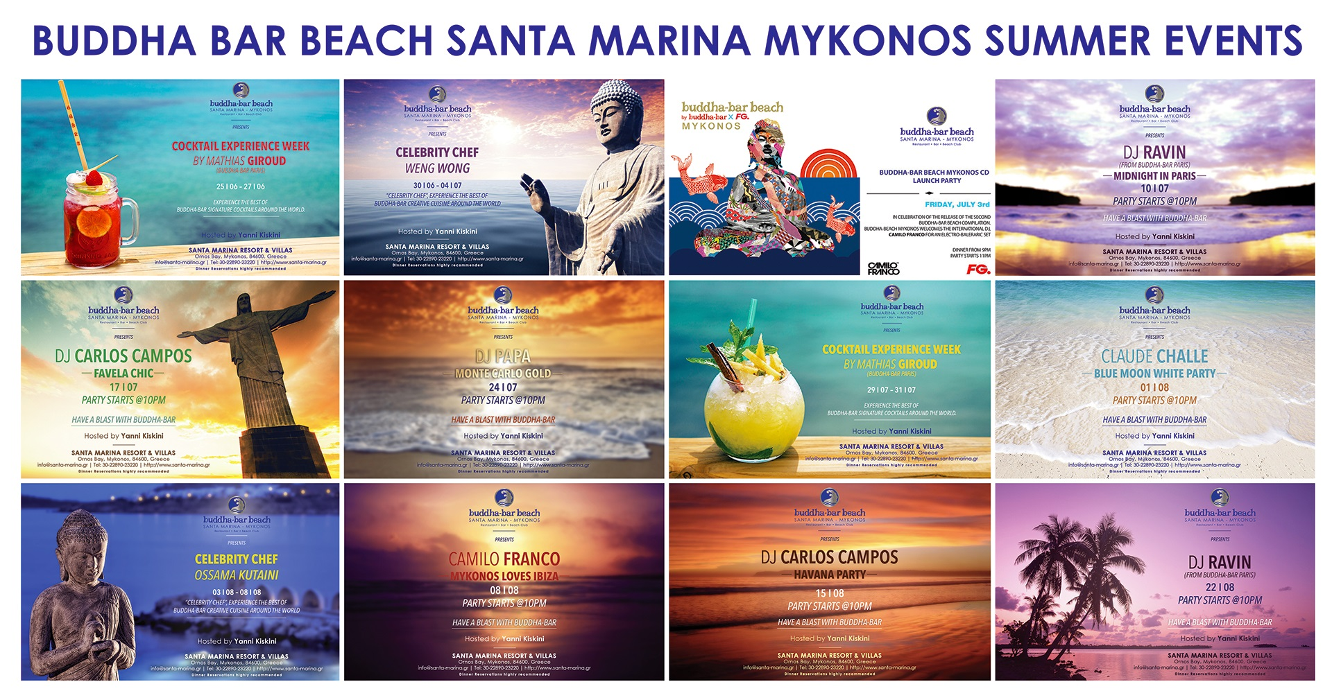 Buddha Bar, Mykonos Summer Events 2015!