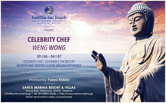 Buddha-Bar Beach hosts Celebrity Chef Weng Wong June 30 to July 4