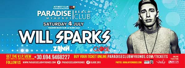 04.JULY.2015 WILL SPARKS @ PARADISE CLUB