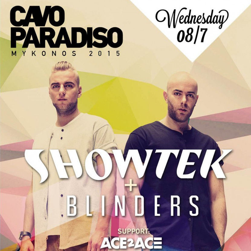Party with Showtek & Blinders at Cavo Paradiso on July 8