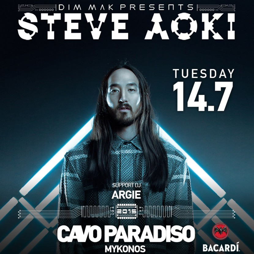 Steve Aoki headlines at Cavo Paradiso on July 14