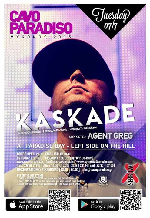 Cavo Paradiso presents Kaskade on July 7