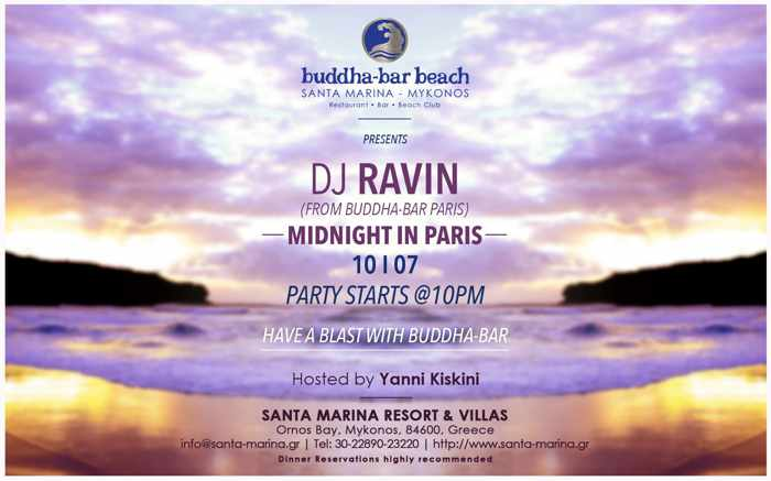 DJ Ravin at Santa Marina Resort's Buddha-Bar