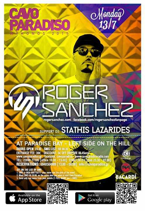 Roger Sanchez headlines at Cavo Paradiso