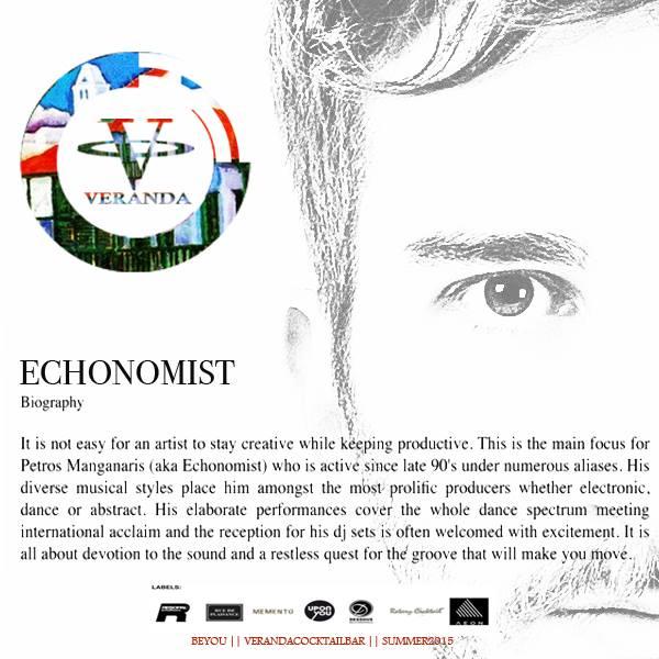 Veranda Bar features Echonomist on July 16 & 17